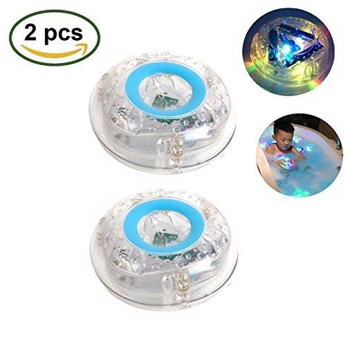 LED Light Toy Waterproof Funny Bathroom Bathing Tub LED Light Toy for for Bathtub Bathroom Party (2 Pcs)