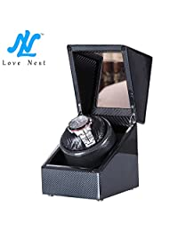 [Carbon New Style] Love Nest Single Premium Carbon Watch Winder Piano Finish Japanese Motor(power included)