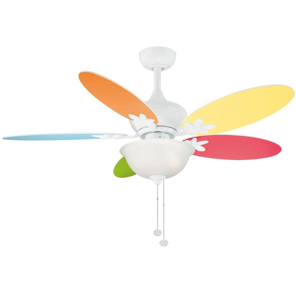 Hampton bay harper ii 44 in white ceiling fan with multicolorwhite white ceiling fan with multicolorwhite flower blades amazon aloadofball Gallery