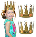 ''Jesus is King'' Adjustable Cardboard Crowns for VBS, Children's Ministry - 12 Pack