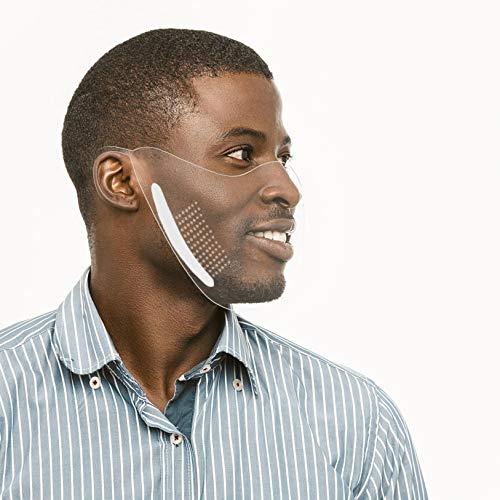 Clacce Super einfach zu bedienen! Transparenter Mund Nasen Schutz Wiederverwendbar und Waschbar Sichtbarer Ausdruck Gesichts (Transparent)