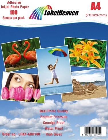 LabelHeaven LHA4-ADH100 Premium Fotopapier, 100 Blatt