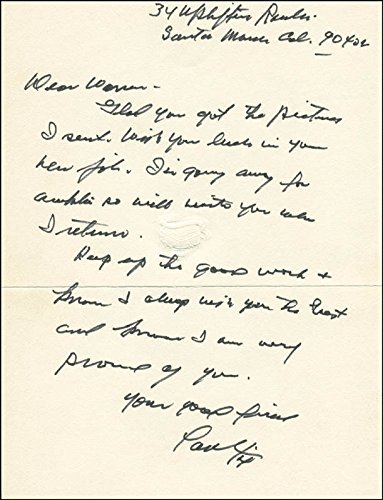Paul Fix – Autograph Letter Signed