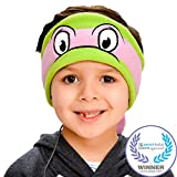 Teenage Mutant Ninja Turtles Kids Headphones by CozyPhones - Volume Limited with Ultra-Thin Speakers & Soft Fleece Headband - Perfect Children's Earphones for School, Home and Travel - Donatello