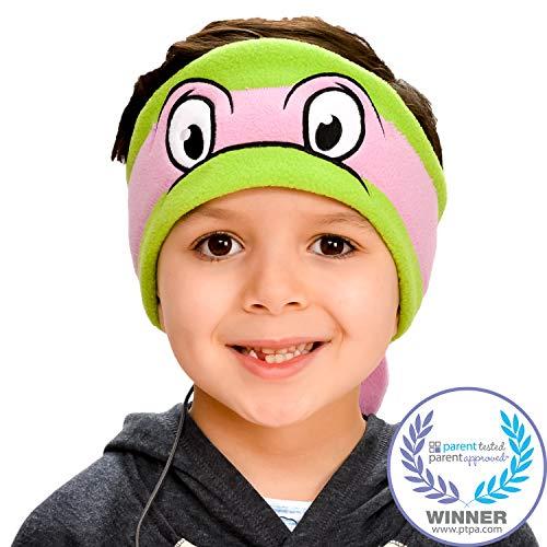 Teenage Mutant Ninja Turtles Kids Headphones by CozyPhones - Volume Limited with Ultra-Thin Speakers & Soft Fleece Headband - Perfect Children's Earphones for School, Home and Travel - Donatello