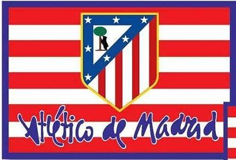 BANDERA OFICIAL ATLETICO DE MADRID - MODELO CLASICO 150X100CM: Amazon.es: Deportes y aire libre