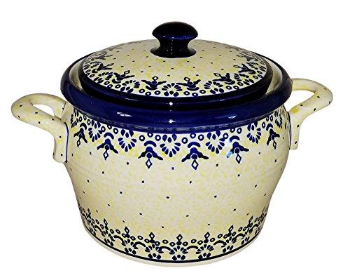 Polish Pottery Bean Pot Covered Baker Eva's Collection