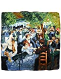 Image of Dahlia Women's 100% Square Silk Scarf Renoir