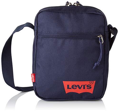 Levi's Herren Mini Crossbody Solid (red Batwing) Schultertasche, Blau (Navy Blue), 5.5x15.5x21 centimeters