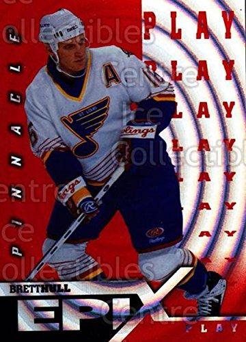 (CI) Brett Hull Hockey Card 1997-98 Pinnacle Epix Play Orange 18 Brett - Hull Orange Shop