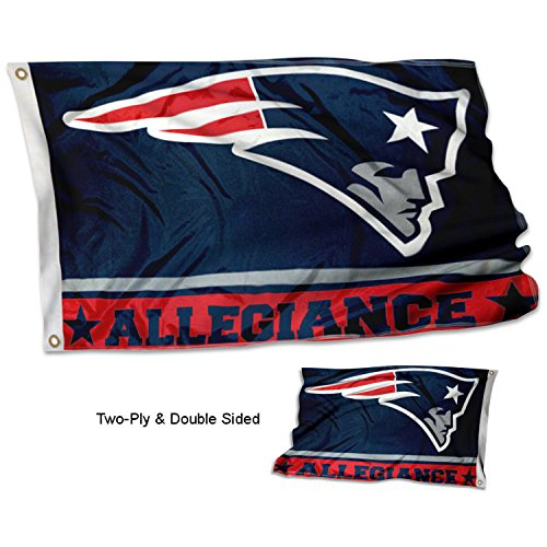 WinCraft New England Patriots Double Sided Allegiance Flag ()