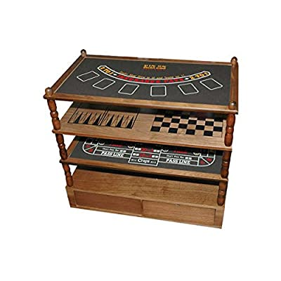 Image of 9 in 1 Game Table with Blackjack/Craps/Roulette, & Tic Tac Toe