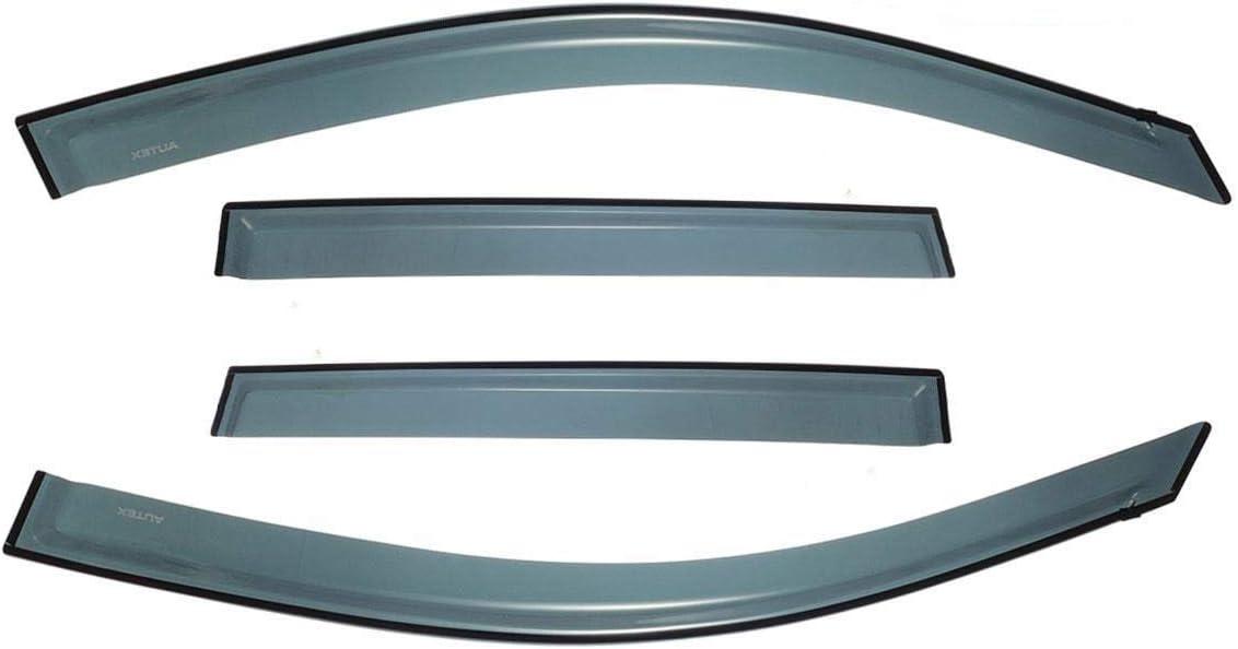 AUTEX 4Pcs Tape On Window Visor Compatible with Toyota Rav4 2006 2007 2008 2009 2010 2011 2012 Side Window Deflector Guard Shade