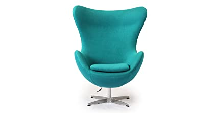 Great Kardiel Egg Chair, Turquoise Boucle Cashmere Wool
