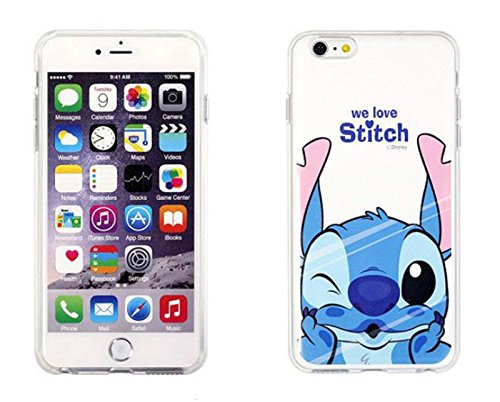 Disney Winnie Mickey Daisy & Donald Duck Clear TPU Soft Case For Apple iPhone 7 WE LOVE STITCH .1