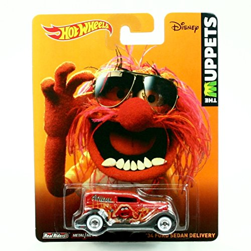 Animal / '34 Ford Sedan Delivery * Disney / The Muppets * 2014 Hot Wheels Pop Culture Series 1:64 Scale Die-Cast Vehicle (Beaker From Muppets)