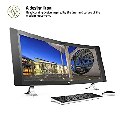 "HP ENVY 34 CURVED Desktop 512GB SSD 2TB HD 32GB RAM (Intel Core i7-6700K processor - 4.00GHz TURBO to 4.20GHz, 32 GB RAM, 512 GB SSD + 2TB HD, 34"" WQHD LED (3440x1440), Win 10) PC Computer All-in-One"