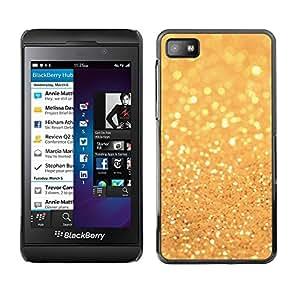 Cubierta de la caja de protección la piel dura para el BLACKBERRY Z10 - glitter golden shining bright bling