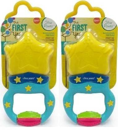 NYD Packs The First Years Massaging Action Teether - 2 (First Years Massaging Teether)