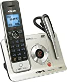 VTECH DECT 6.0 1-Handset + 1-Headset Cordless Phone System with Digital Answering Machine, Handset Speakerphone, and Voice Announce Caller ID