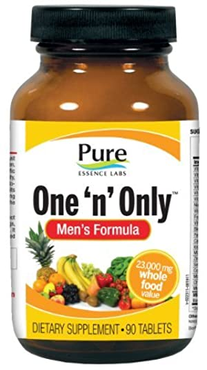 Pure Essence Labs One 'n' Only Men's Formula - Power Packed Once Daily Multiple For Men - 90 Tablets by Pure Essence