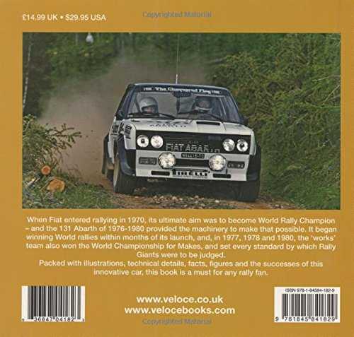 Fiat 131 Abarth (Rally Giants): Amazon.es: Graham Robson: Libros en idiomas extranjeros
