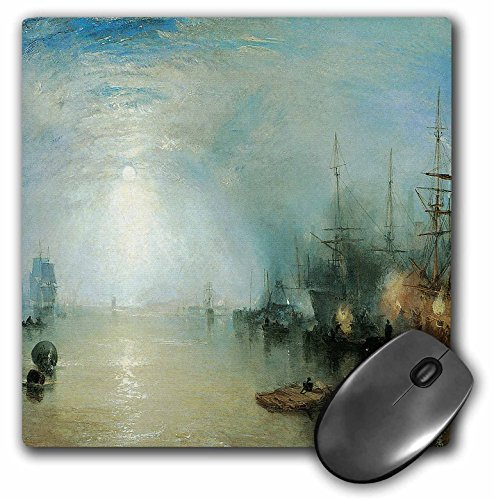 3dRose BLN Sailing Ships and Seascapes Fine Art Collection - Keelman Heaving in Coalt by Moonlight by J. M. W. Turner - MousePad (mp_126841_1) ()