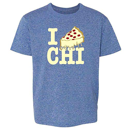 - I Pizza Chicago Heather Royal Blue 5 Toddler Kids T-Shirt