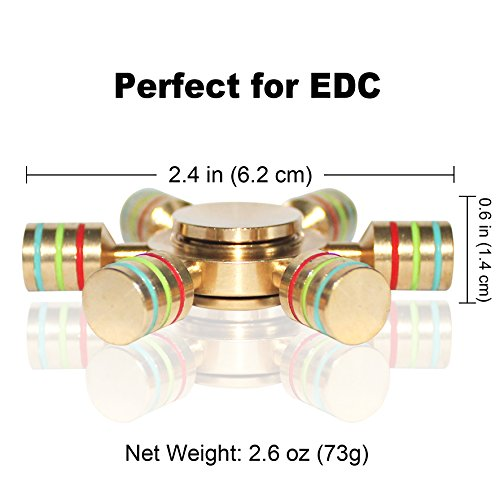 Fidget Spinner, 2EYOU Spinner Toy EDC Hand Spinner With High-Speed Bearing Stress Reducer – Perfect for ADD, ADHD, Anxiety and Boredom (Copper-Golden)