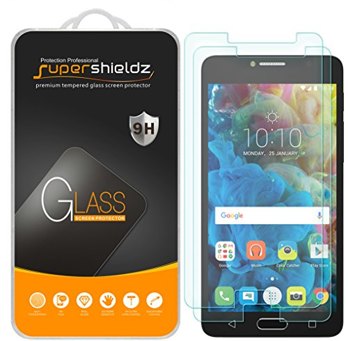[2-Pack] Supershieldz for Alcatel Pop 4S Tempered Glass Screen Protector, Anti-Scratch, Anti-Fingerprint, Bubble Free, Lifetime Replacement Warranty