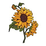 #9: Sun Flowers Embroidered Iron on Applique Patches