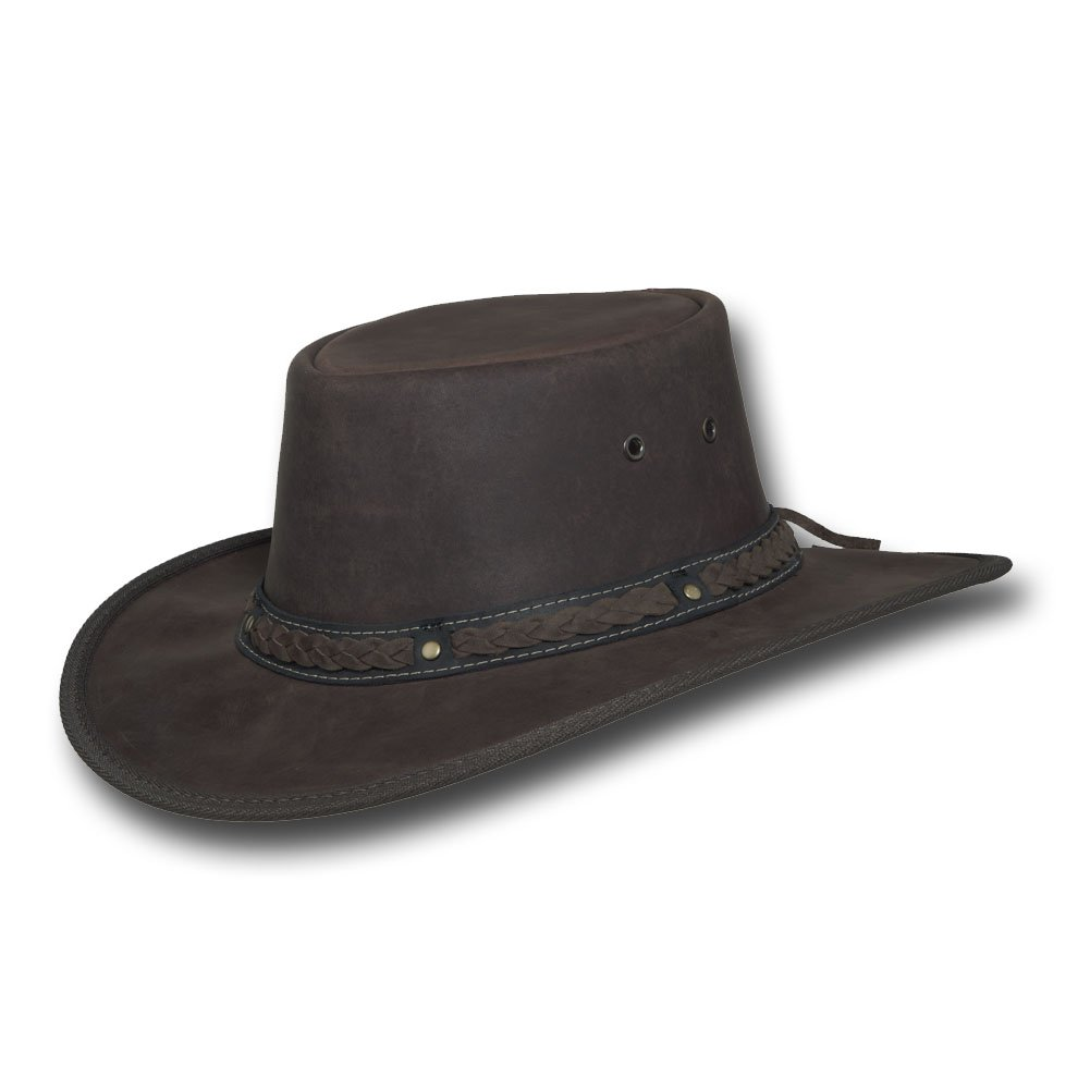 Barmah Hats Squashy Bronco Cooper Crossing Leather Hat - Item 1022