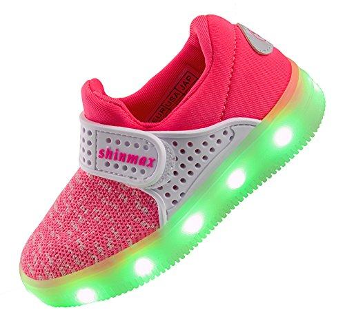 Shinmax Zapatillas de Piel Para Niña Rosa Rosa IYgWbFAhg