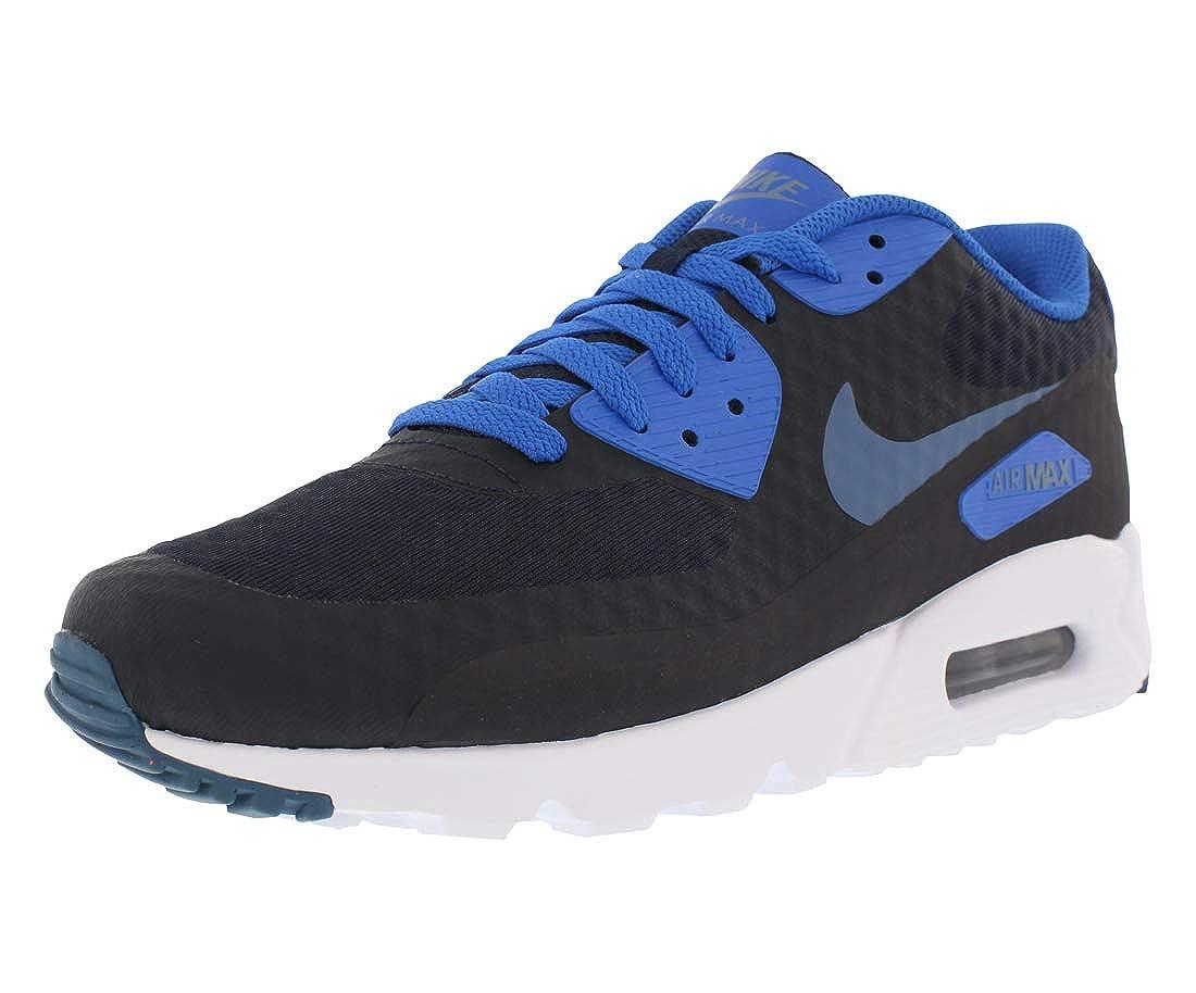 save off aaf58 d74e0 Amazon.com | Nike Men's Air Max 90 Ultra Essential, DARK OBSIDIAN/OCEAN  FOG-HYPER COBALT, 9.5 M US | Road Running