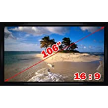 """Antra PSF-106AG 106"""" 16:9 Fixed Projector Projection Screen Matte Grey"""