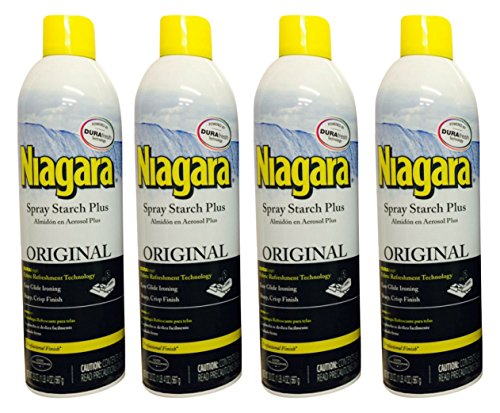Niagara Spray Starch Crisp Finish, Sharp Look Without Excess Stiffness, 20 ounces  (4 (Crisp Sharp)