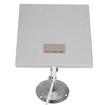 Panel de antena de 2,4 GHz, 14 dBi, WiFi, amplificador, 1 y 3 millas de funcionamiento, resistente al agua, para interior y exterior