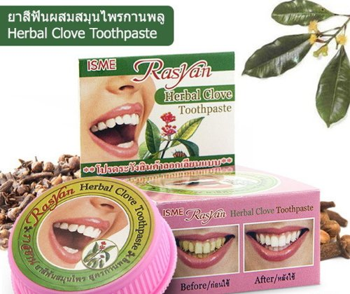 3 Rasyan ISME Herbal Clove Toothpaste Tooth paste Anti Bacteria Bad Breath Decay