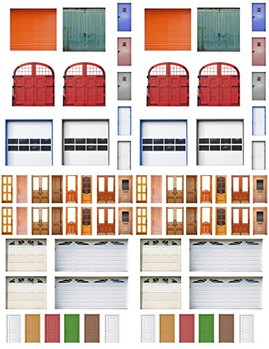 HO Scale Doors and Windows (5 Sheets) ()