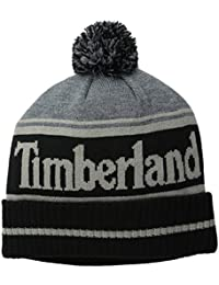 Mens Color-Blocked Logo Watch Cap With Pom. Timberland