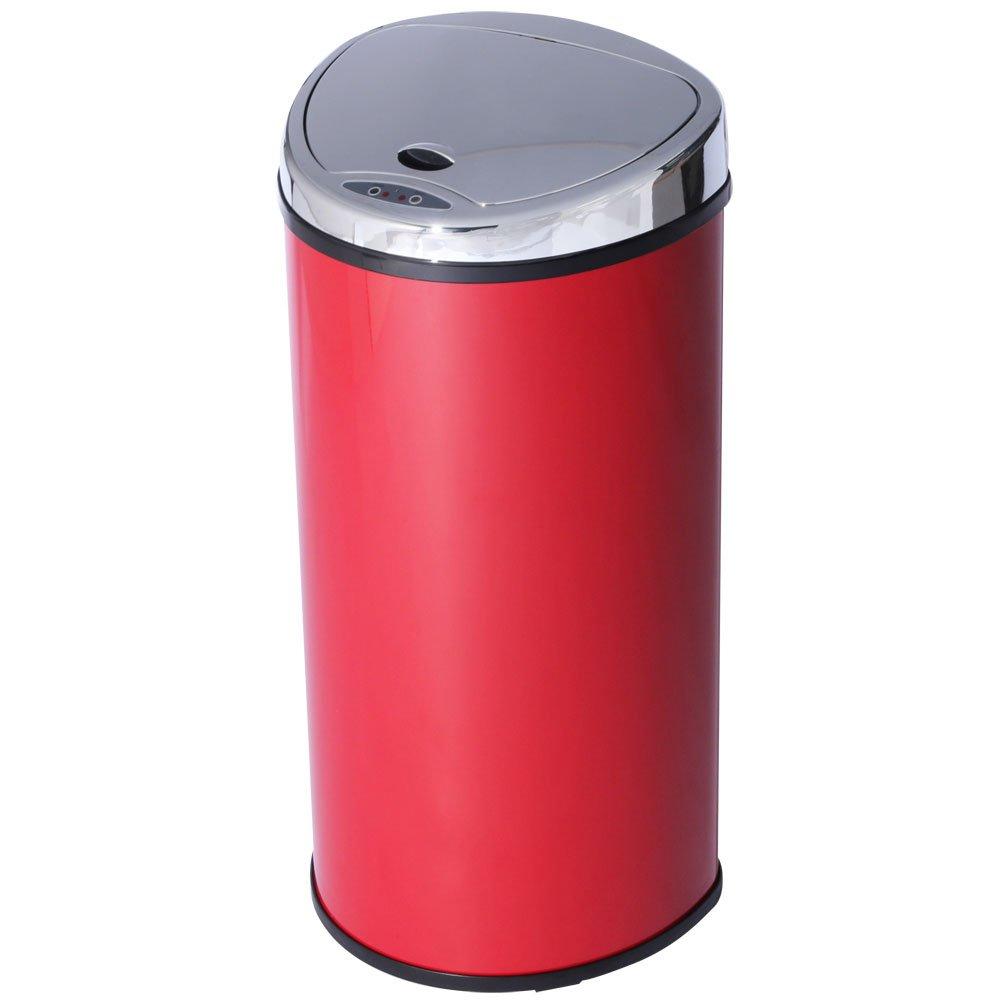 アイリスプラザ ゴミ箱 自動 開閉 センサー付 68L レッド B01MUEZQ8P 68L|レッド レッド 68L