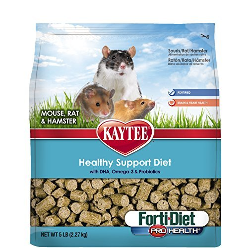 Kaytee Forti Diet Pro Health Small Animal Food for Mice and Rats, 3-Pound