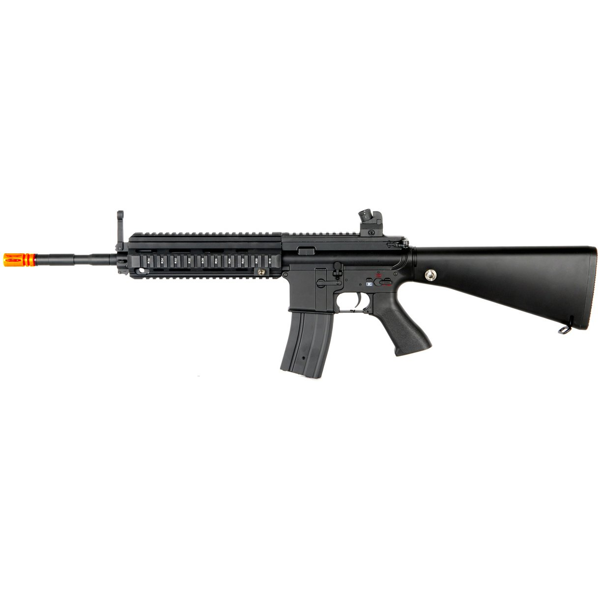 MetalTac JG FB-6623 614 Electric Airsoft Gun with Rail Mounting System, Full Metal Body, Metal Gearbox Version 2, Auto AEG, Upgraded Powerful Spring 410 Fps with .20g BBs