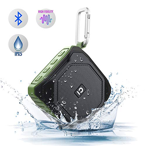 Bluetooth Speakers Waterproof, Portable Wireless Speaker with Built-in Mic Outdoor Speakers Bluetooth with HD Sound and Bass Wireless Speaker for Shower,Pool,Beach,Party (Green)
