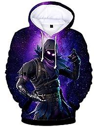 EMILYLE Unisex Children's Hoodies Fortnite Hero Printed Long Sleeve Sweatshirt