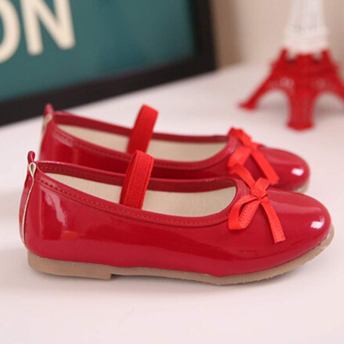 Little//Toddler//Big Kids YANGXING Girls Shoes Ballerina Flat Shoes School Wedding Party Mary Jane Dress Shoes