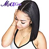 Bob Wig Lace Front Human Hair Wigs Glueless Short Bob Straight Wigs with Pre Plucked Baby Hair for Black Women(14inch)