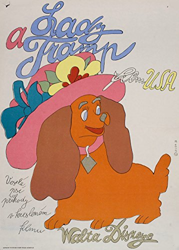 Lady and the Tramp 1974 Czech A3 Poster