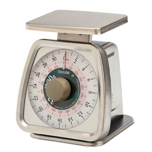 Taylor Precision Products Food Service 32-Ounce Analog Portion Control Scale (Stainless - Scale Control Portion Dial
