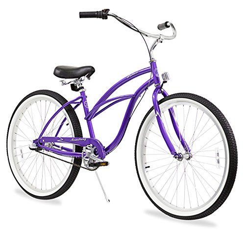 Firmstrong Urban Lady Three Speed Beach Cruiser Bicycle, 26-Inch, Purple